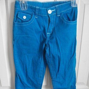 Star Turquoise Cropped Pants Girl Size 16 fits 14